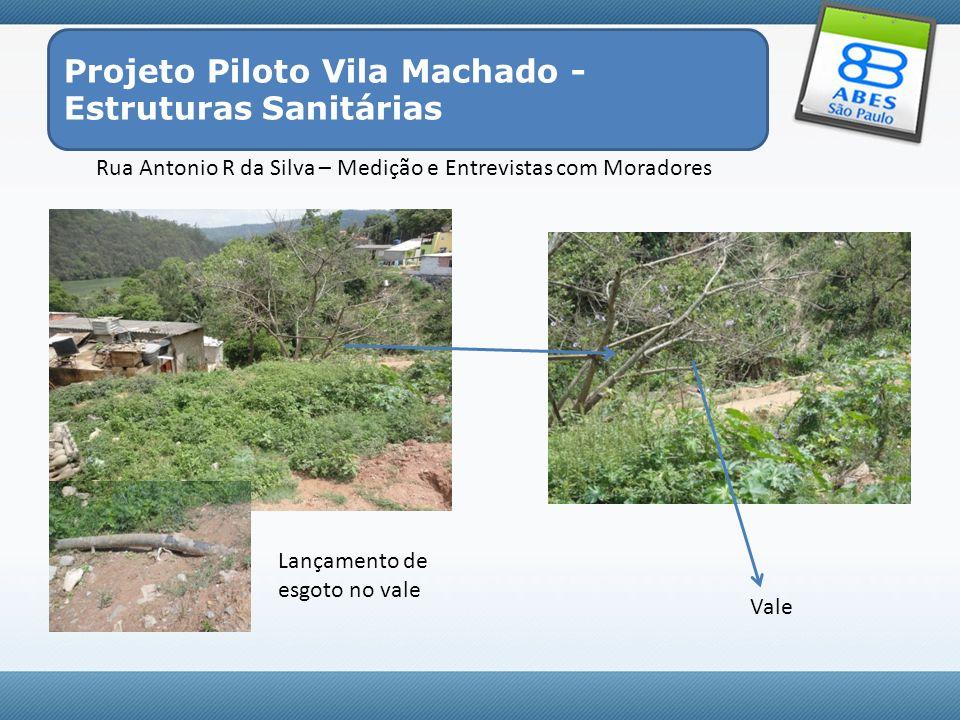 Projeto Piloto Vila Machado - Estruturas Sanitárias