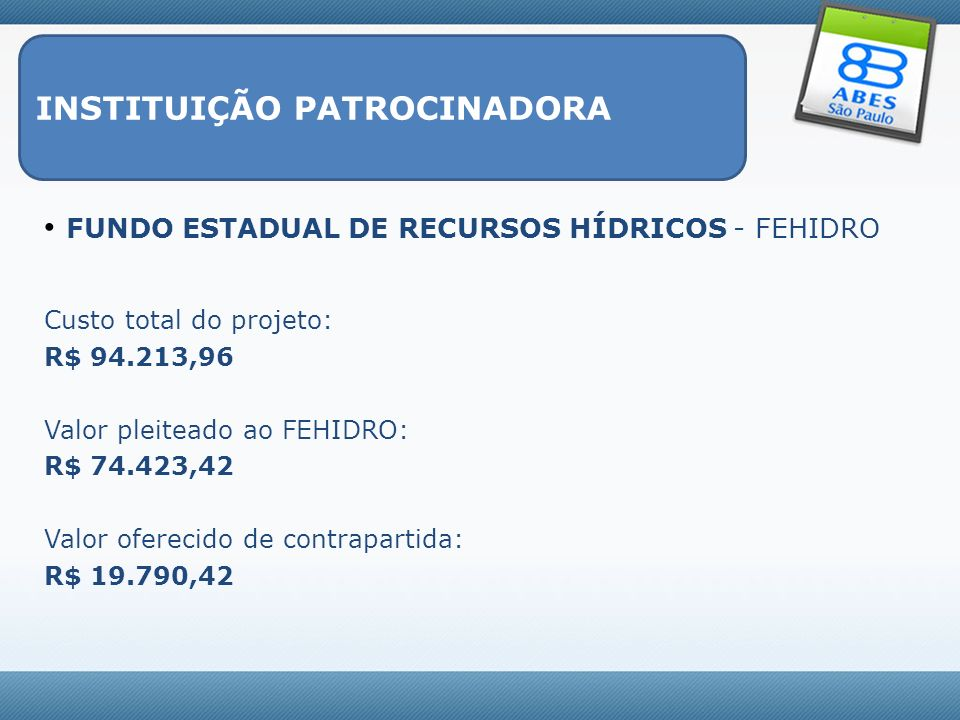 INSTITUIÇÃO PATROCINADORA