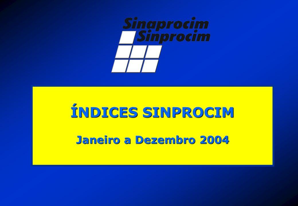 ÍNDICES SINPROCIM Janeiro a Dezembro 2004