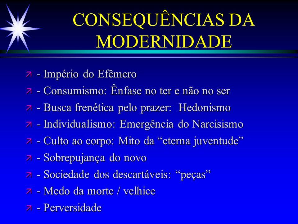 CONSEQUÊNCIAS DA MODERNIDADE