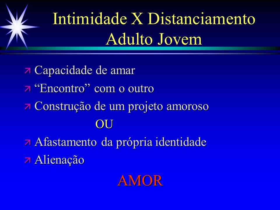 Intimidade X Distanciamento Adulto Jovem