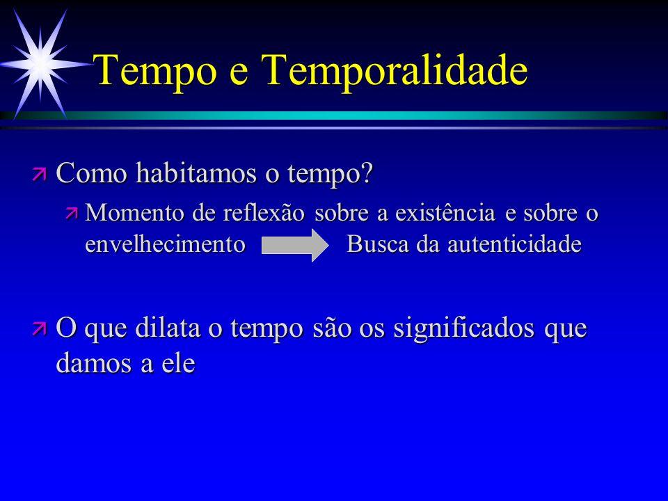 Tempo e Temporalidade Como habitamos o tempo