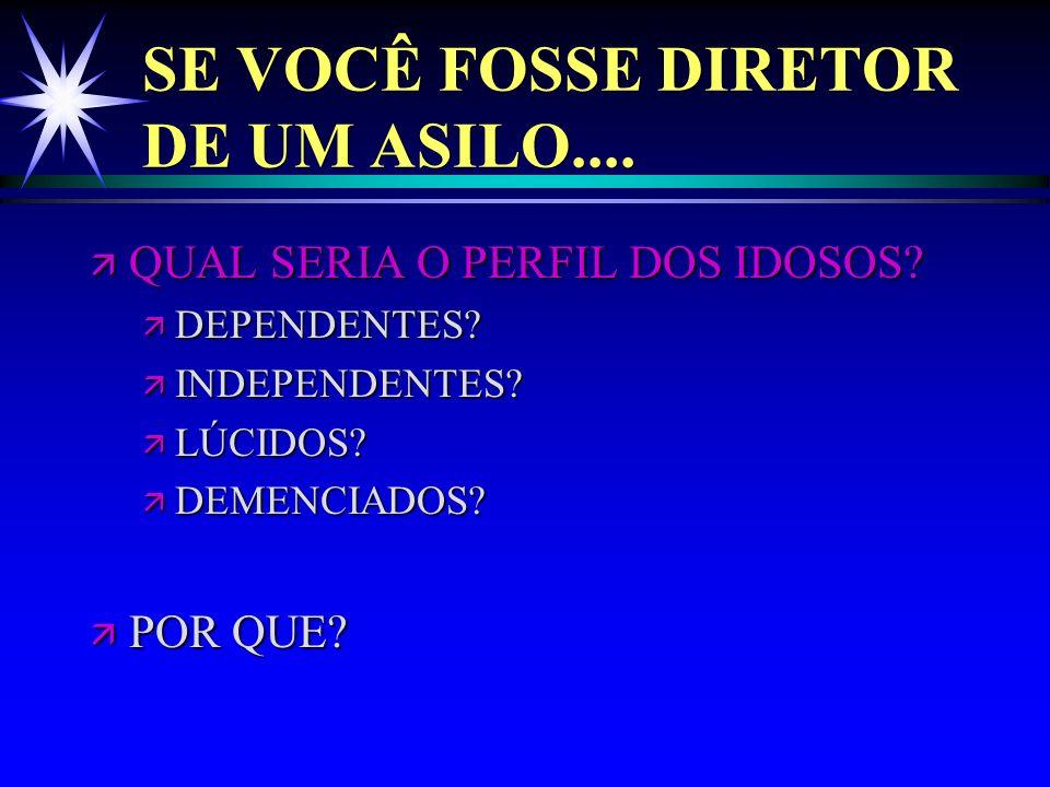 SE VOCÊ FOSSE DIRETOR DE UM ASILO....