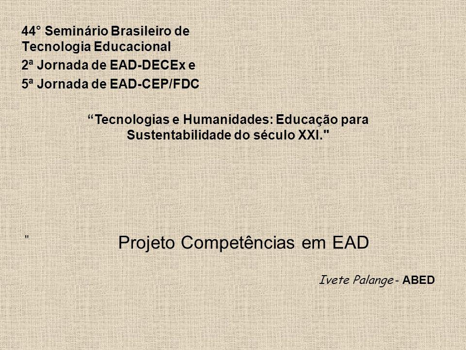Projeto Competências em EAD