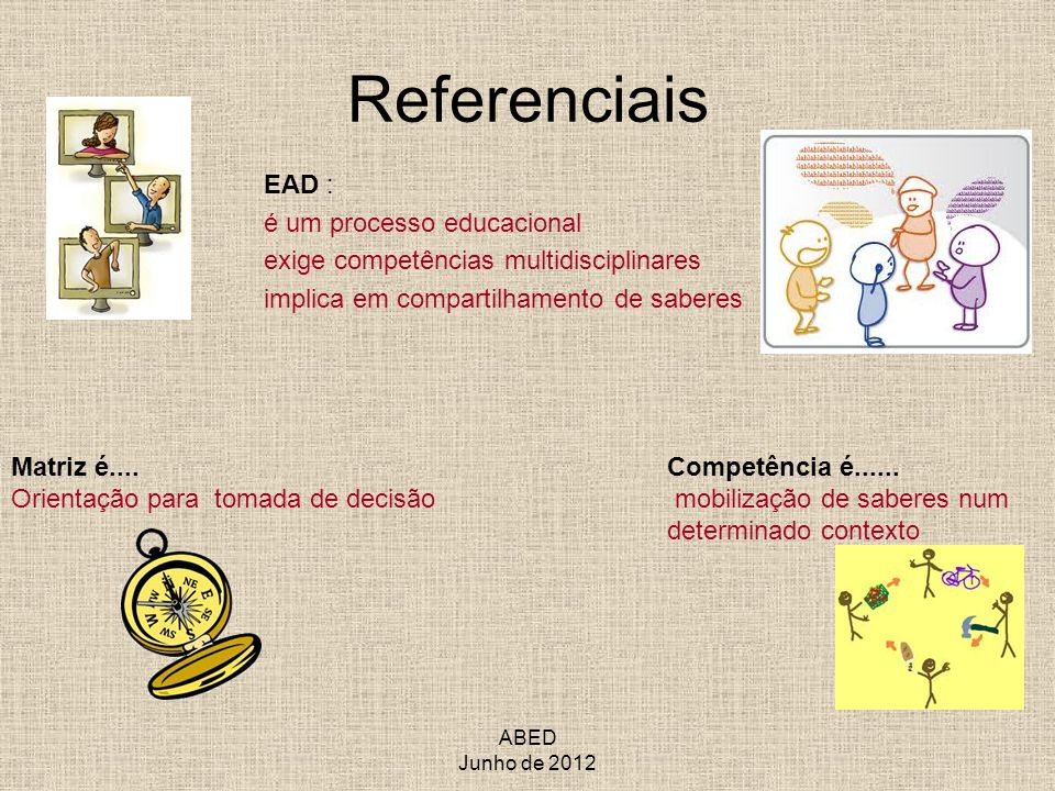 Referenciais EAD : é um processo educacional
