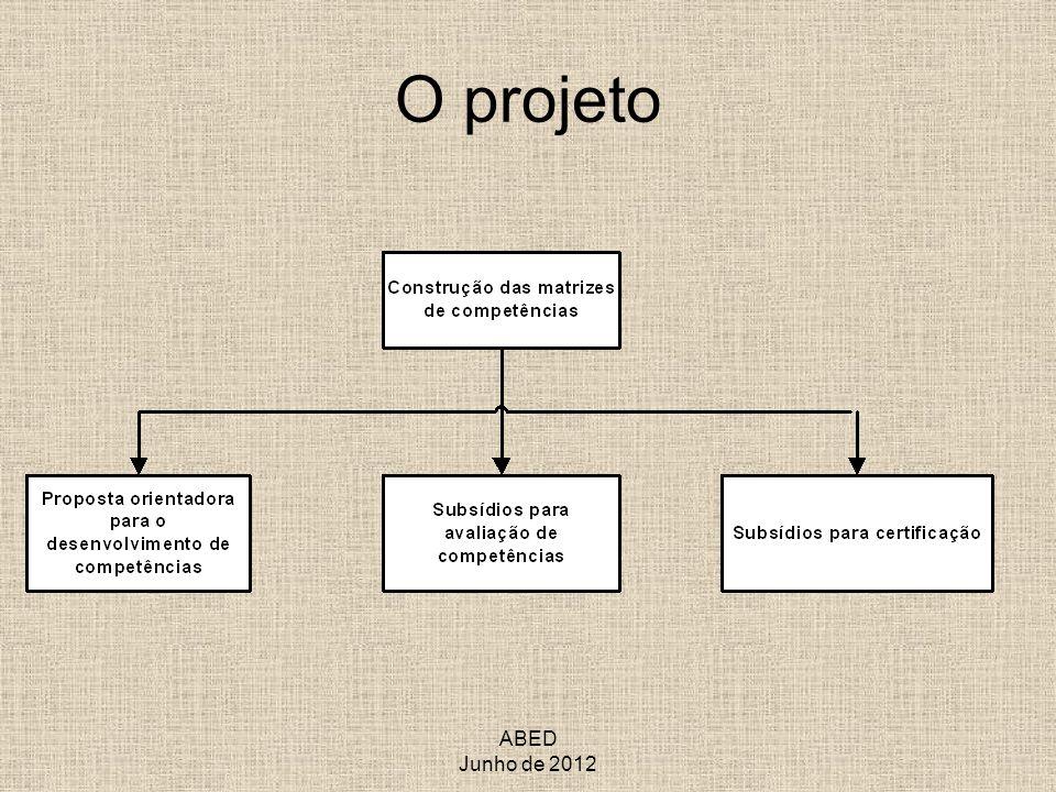 O projeto ABED Junho de 2012