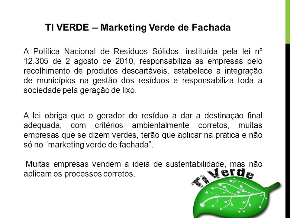 TI VERDE – Marketing Verde de Fachada