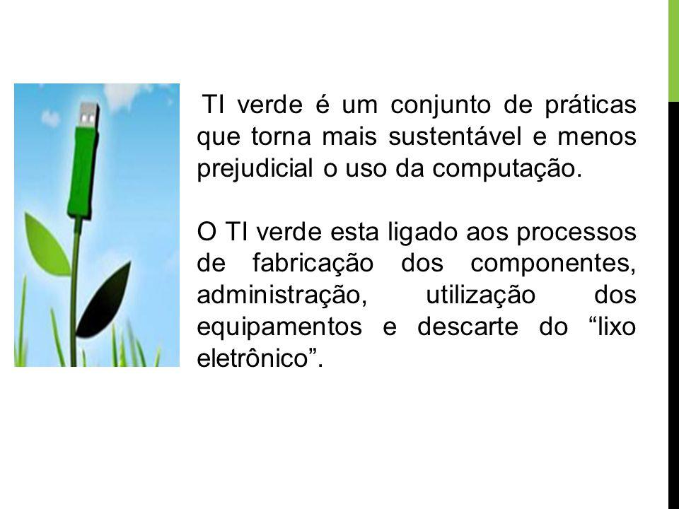 TI verde é um conjunto de práticas que torna mais sustentável e menos prejudicial o uso da computação.
