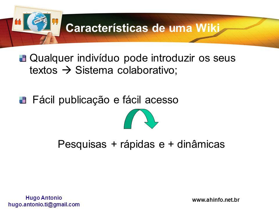 Características de uma Wiki