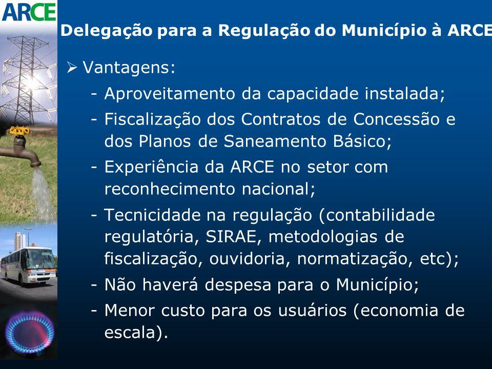 Delegação para a Regulação do Município à ARCE