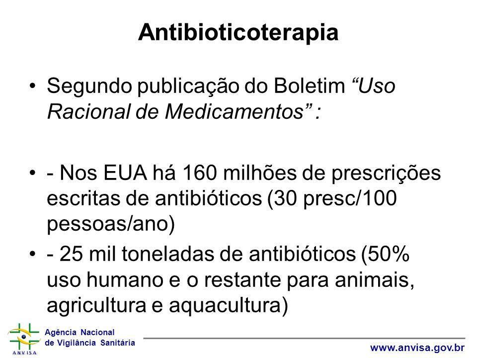 Antibioticoterapia Segundo publicação do Boletim Uso Racional de Medicamentos :