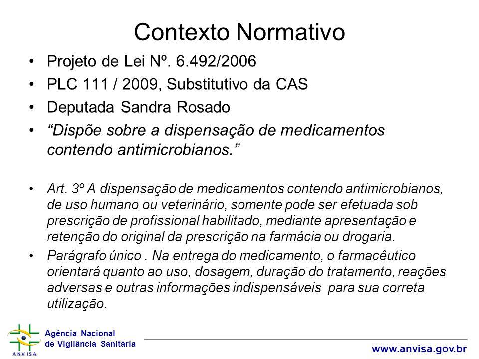 Contexto Normativo Projeto de Lei Nº. 6.492/2006