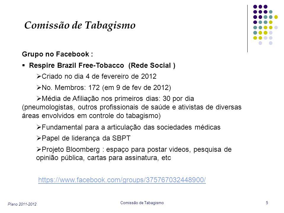 Comissão de Tabagismo Grupo no Facebook :