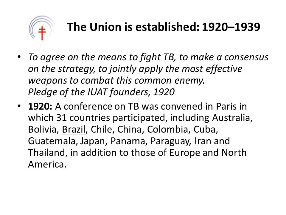 The Union is established: 1920–1939