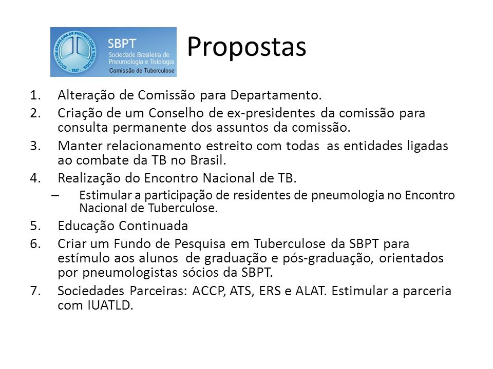 Propostas Alteração de Comissão para Departamento.