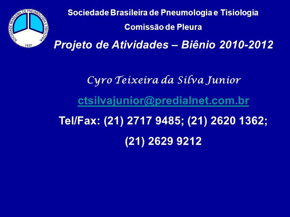 Projeto de Atividades – Biênio 2010-2012