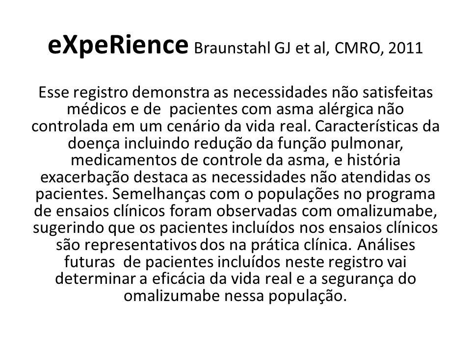 eXpeRience Braunstahl GJ et al, CMRO, 2011