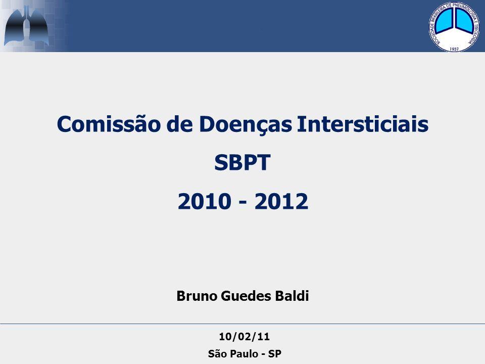 Comissão de Doenças Intersticiais SBPT 2010 - 2012