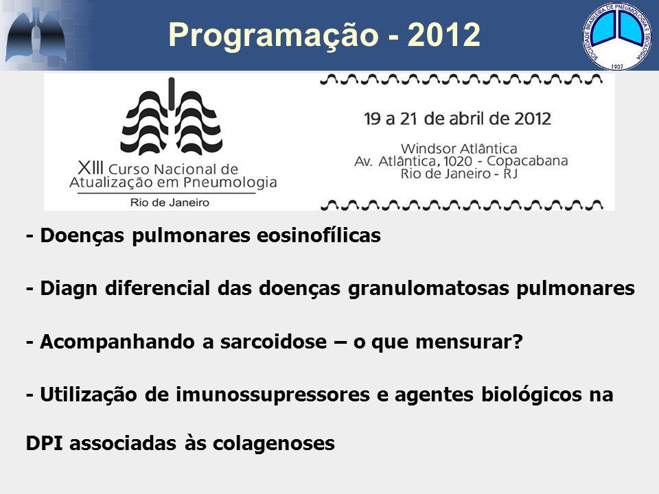 Programação - 2012 - Doenças pulmonares eosinofílicas