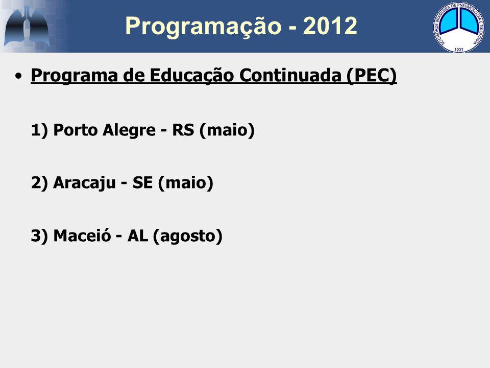 Programação - 2012 Programa de Educação Continuada (PEC)