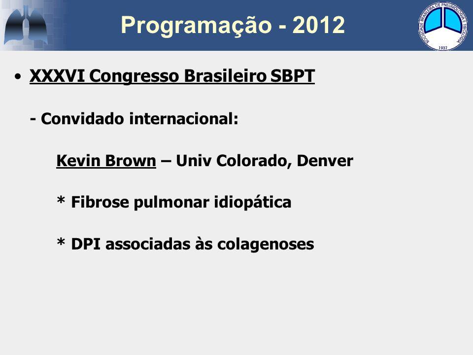 Programação - 2012 XXXVI Congresso Brasileiro SBPT
