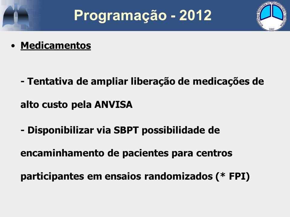 Programação - 2012 Medicamentos