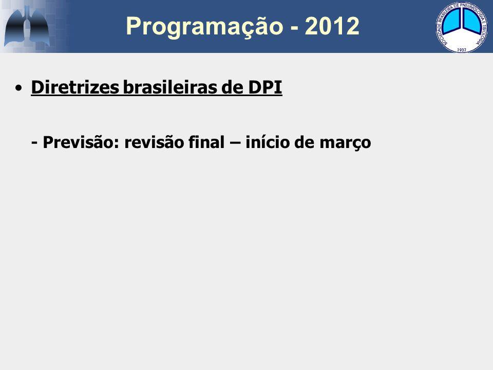 Programação - 2012 Diretrizes brasileiras de DPI