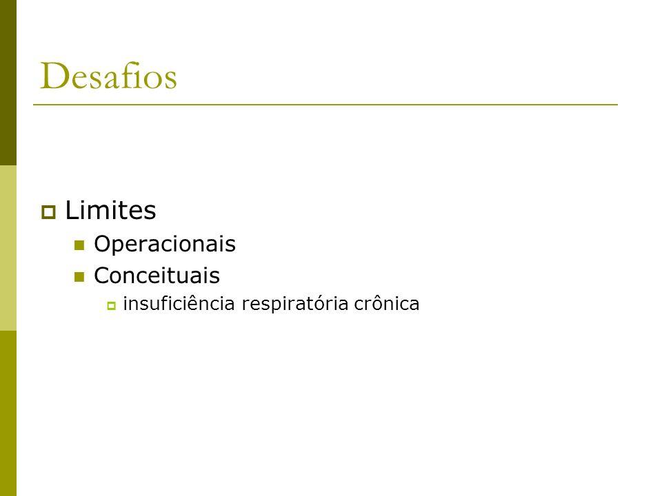 Desafios Limites Operacionais Conceituais