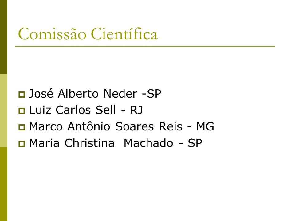 Comissão Científica José Alberto Neder -SP Luiz Carlos Sell - RJ
