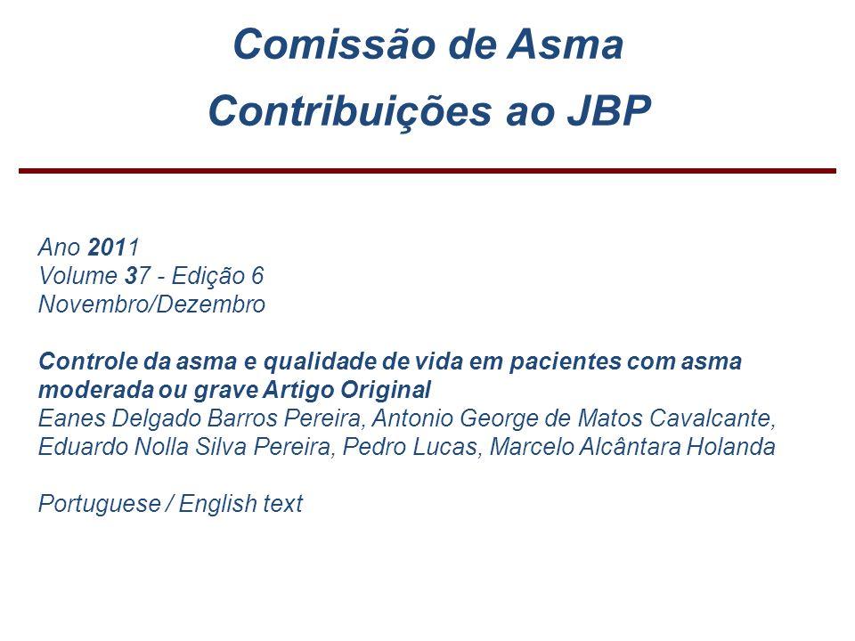 Comissão de Asma Contribuições ao JBP