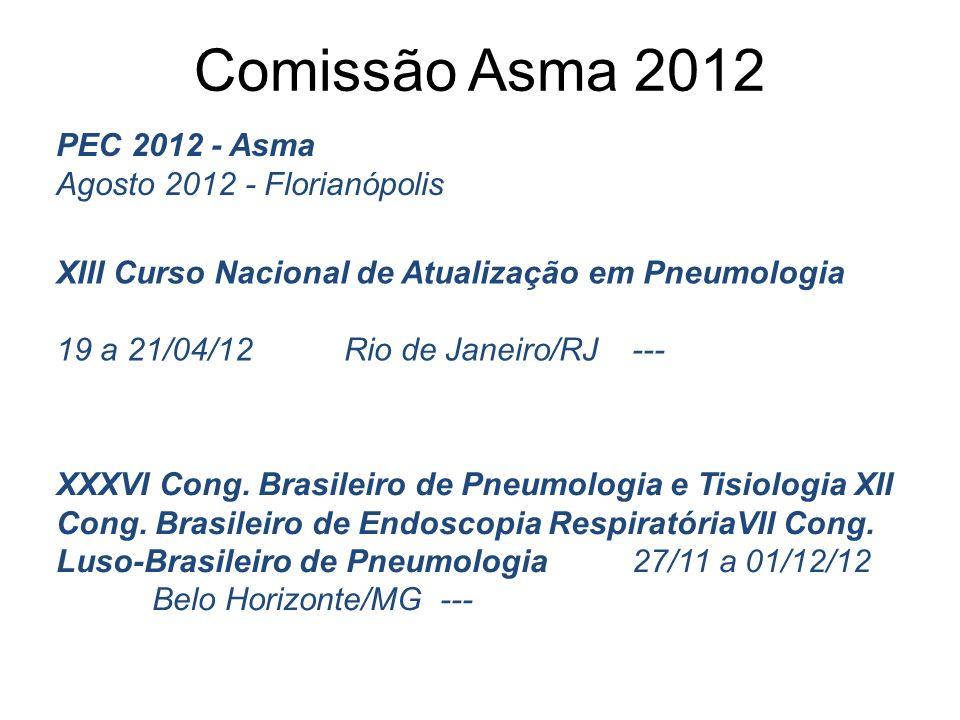 Comissão Asma 2012 PEC 2012 - Asma Agosto 2012 - Florianópolis