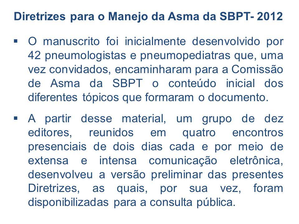 Diretrizes para o Manejo da Asma da SBPT- 2012