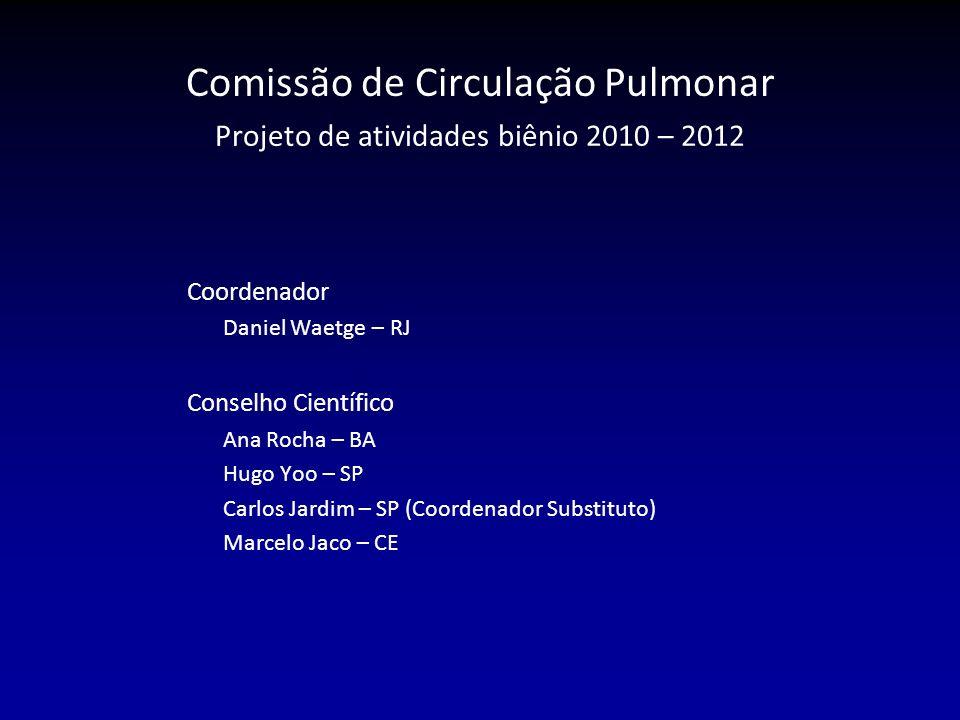 Comissão de Circulação Pulmonar Projeto de atividades biênio 2010 – 2012