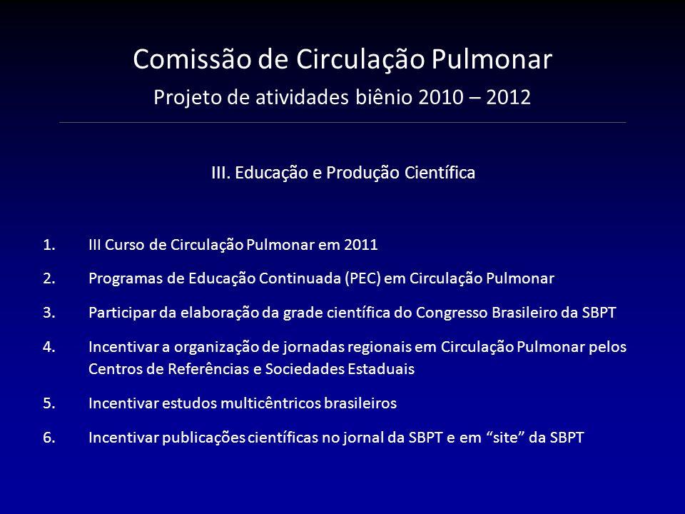 III. Educação e Produção Científica