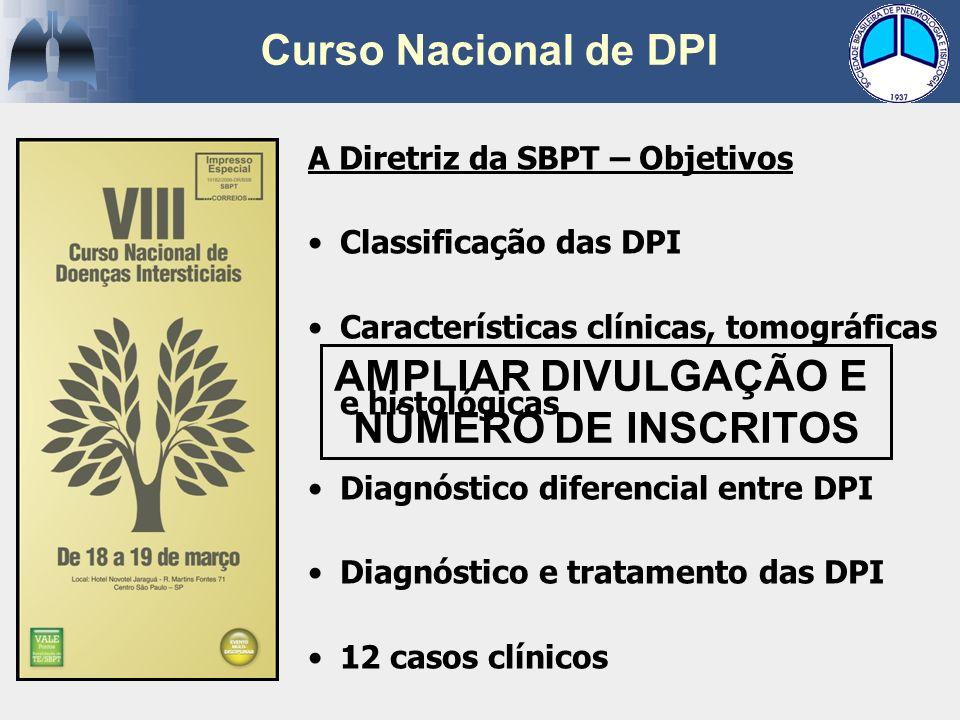Curso Nacional de DPI AMPLIAR DIVULGAÇÃO E NÚMERO DE INSCRITOS