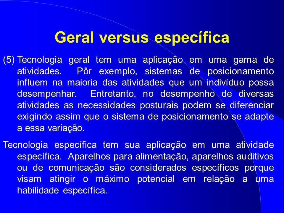 Geral versus específica