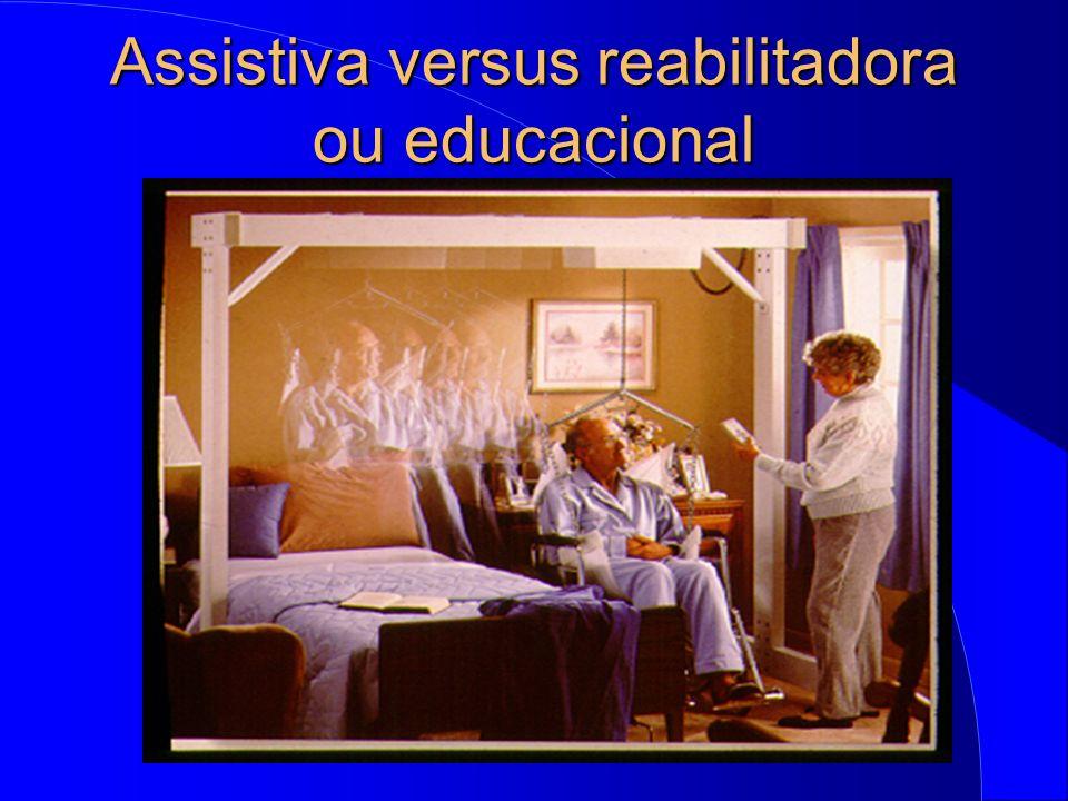 Assistiva versus reabilitadora ou educacional