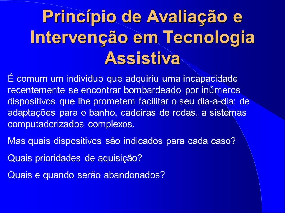 Princípio de Avaliação e Intervenção em Tecnologia Assistiva