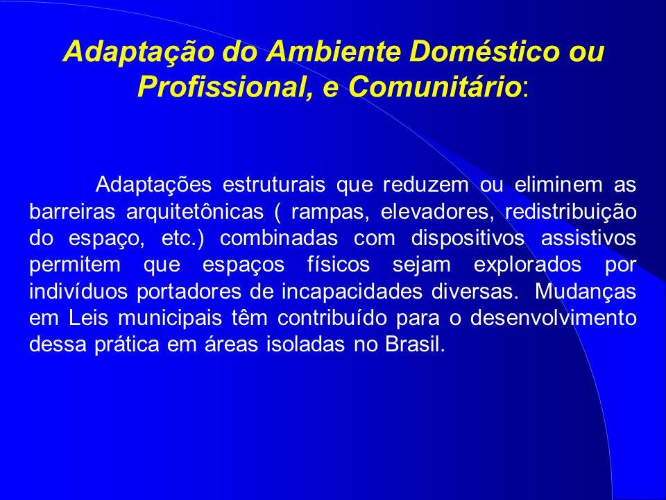 Adaptação do Ambiente Doméstico ou Profissional, e Comunitário: