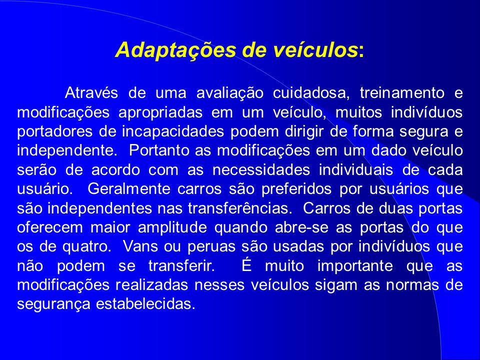 Adaptações de veículos: