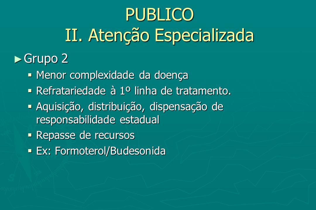 PUBLICO II. Atenção Especializada