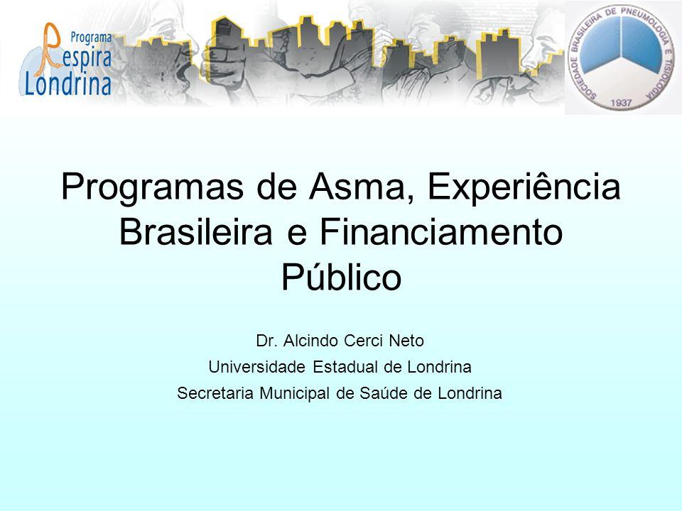 Programas de Asma, Experiência Brasileira e Financiamento Público