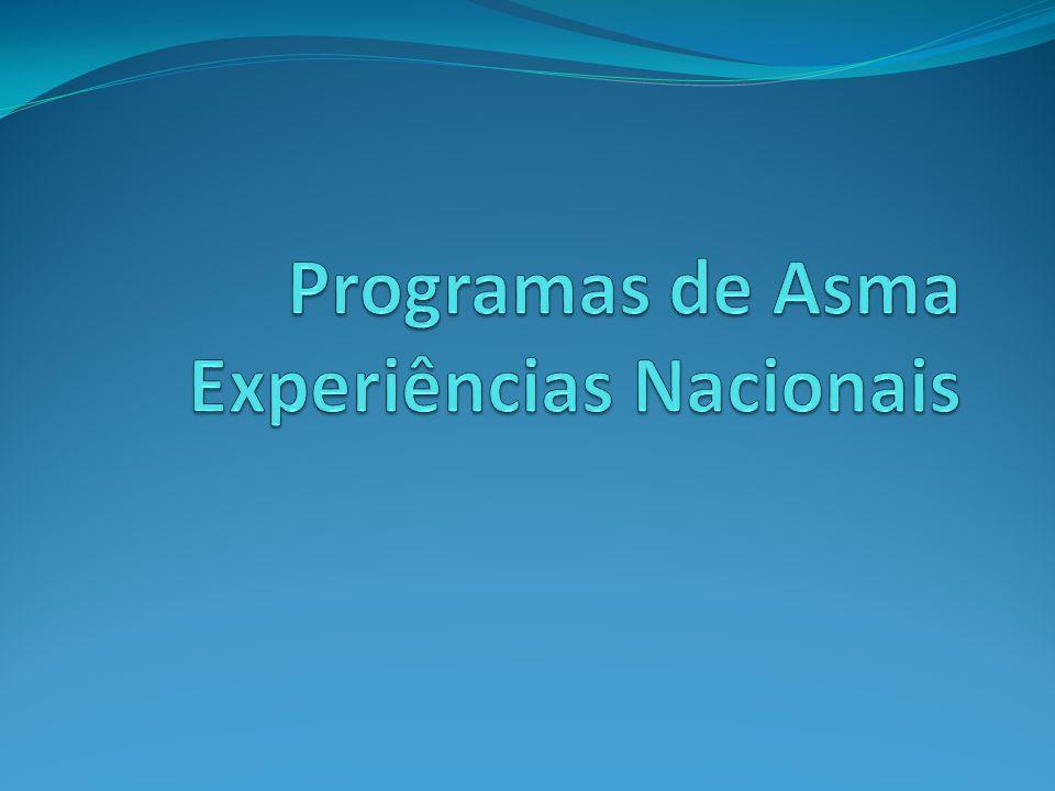 Programas de Asma Experiências Nacionais