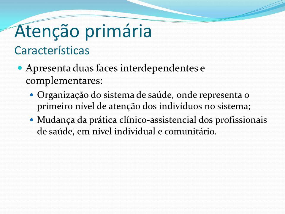 Atenção primária Características