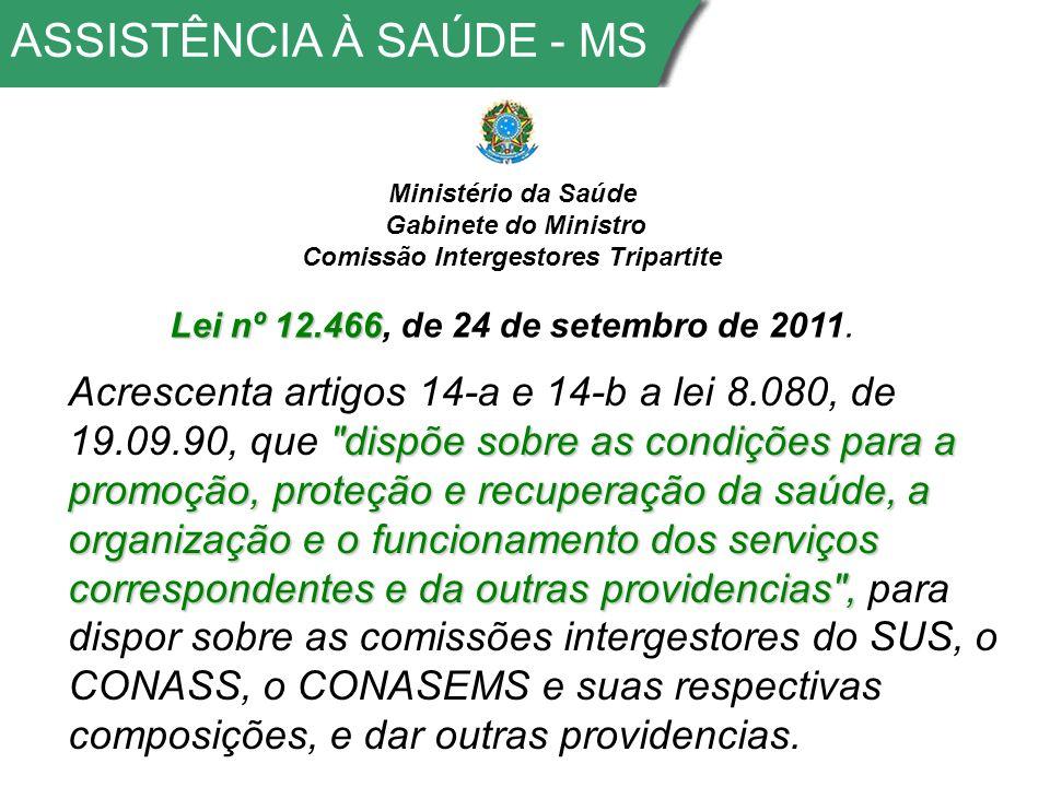 ASSISTÊNCIA À SAÚDE - MS