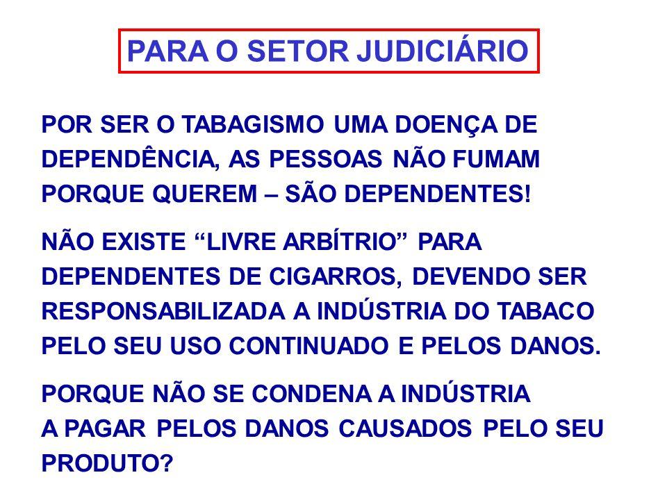 PARA O SETOR JUDICIÁRIO