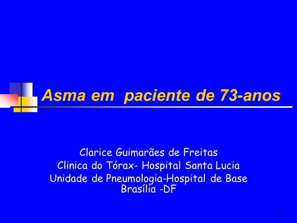 Asma em paciente de 73-anos