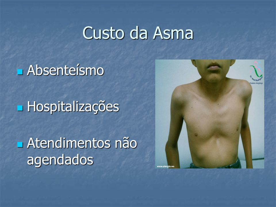 Custo da Asma Absenteísmo Hospitalizações Atendimentos não agendados