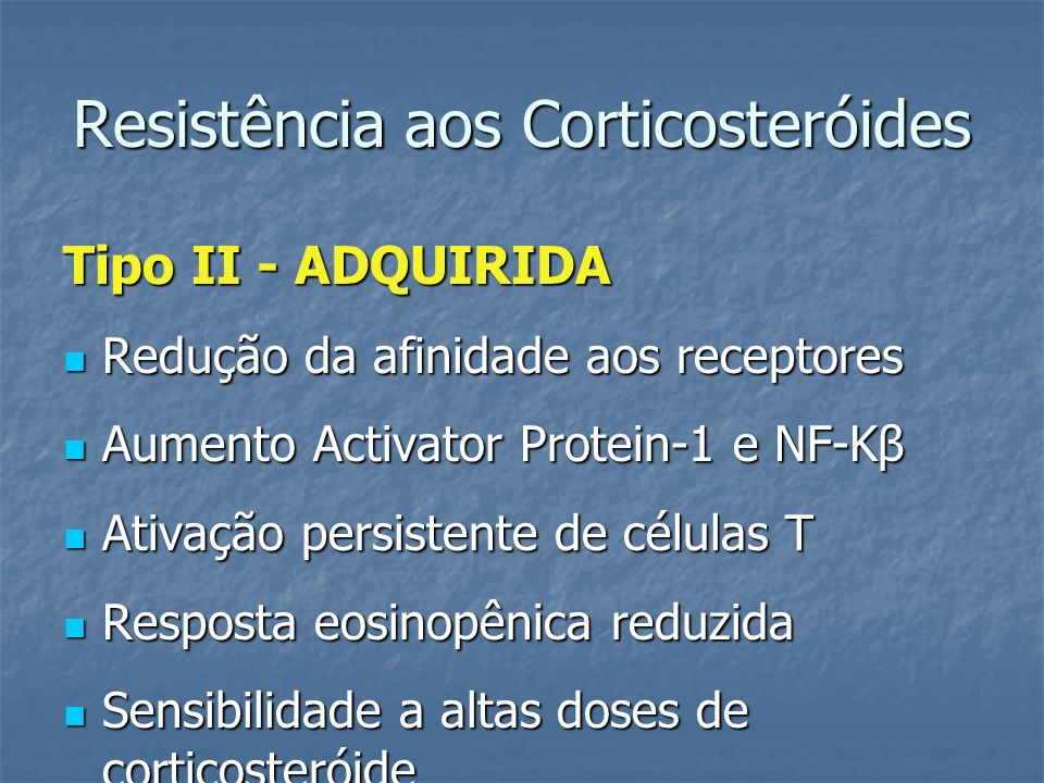 Resistência aos Corticosteróides