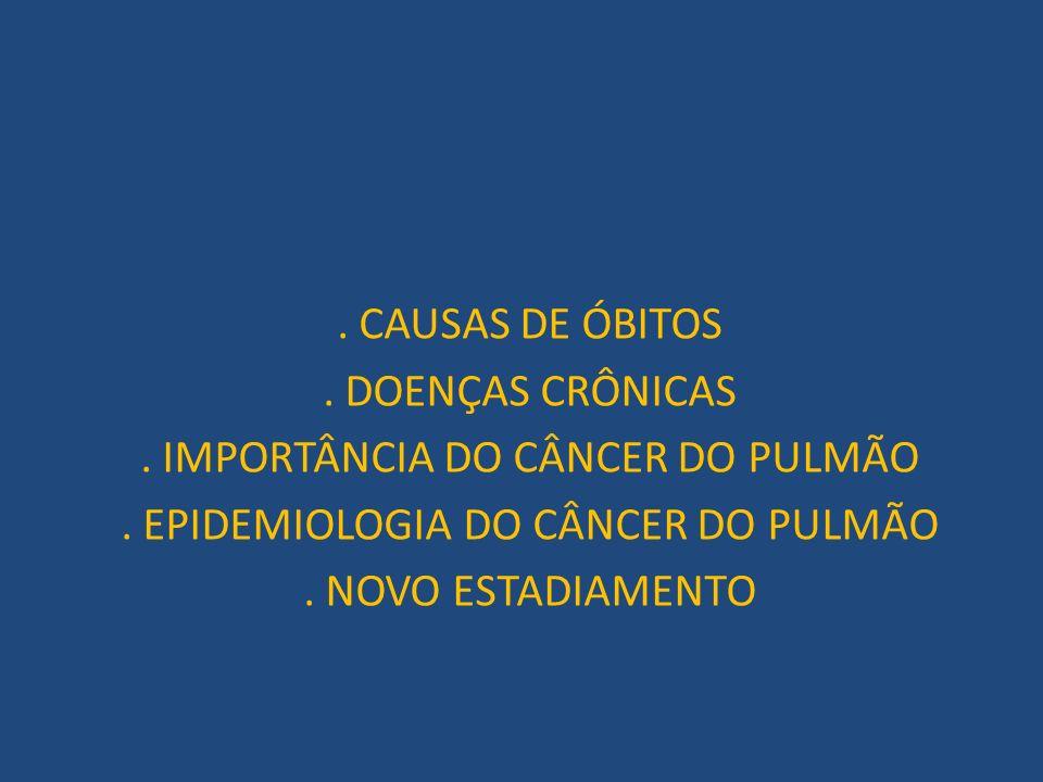 . IMPORTÂNCIA DO CÂNCER DO PULMÃO . EPIDEMIOLOGIA DO CÂNCER DO PULMÃO